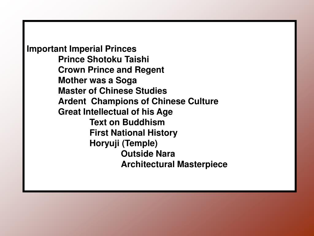Important Imperial Princes