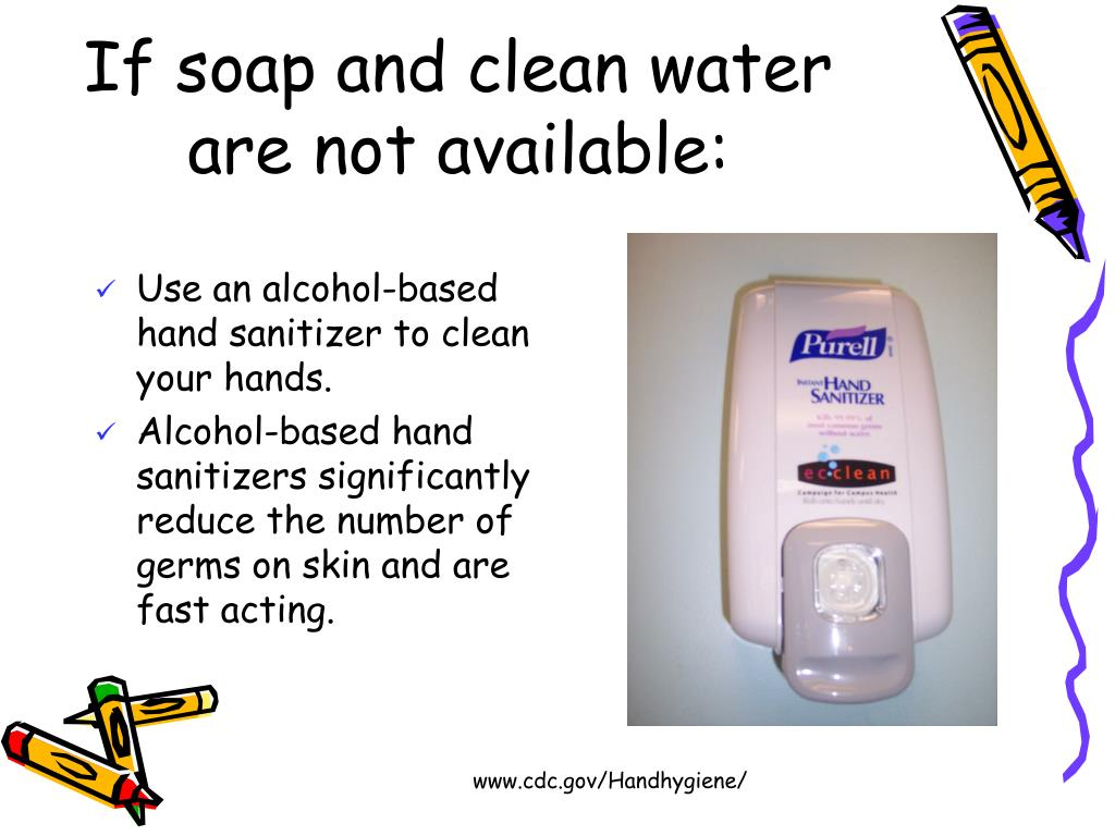 If soap and clean water are not available: