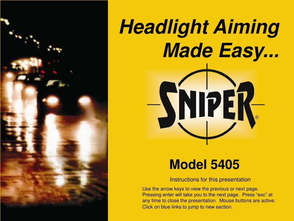 Headlight Aiming