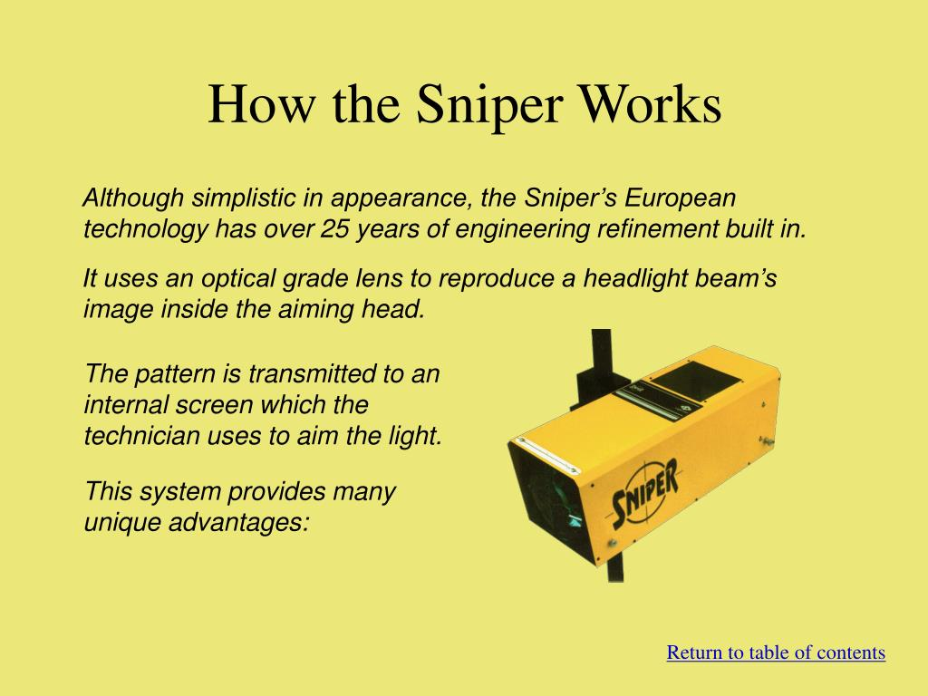How the Sniper Works