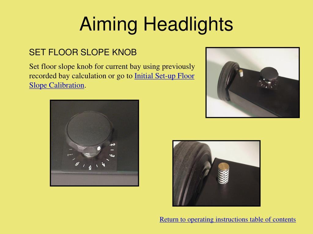 Aiming Headlights