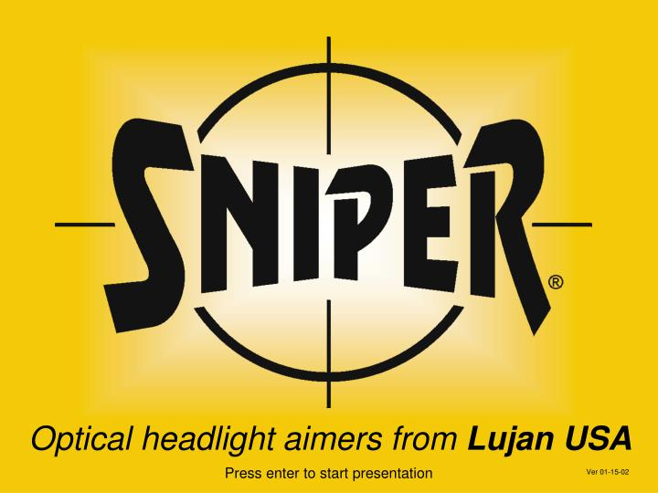 Optical headlight aimers from