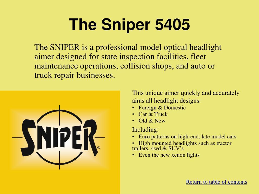 The Sniper 5405