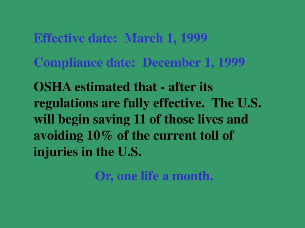 Effective date:  March 1, 1999