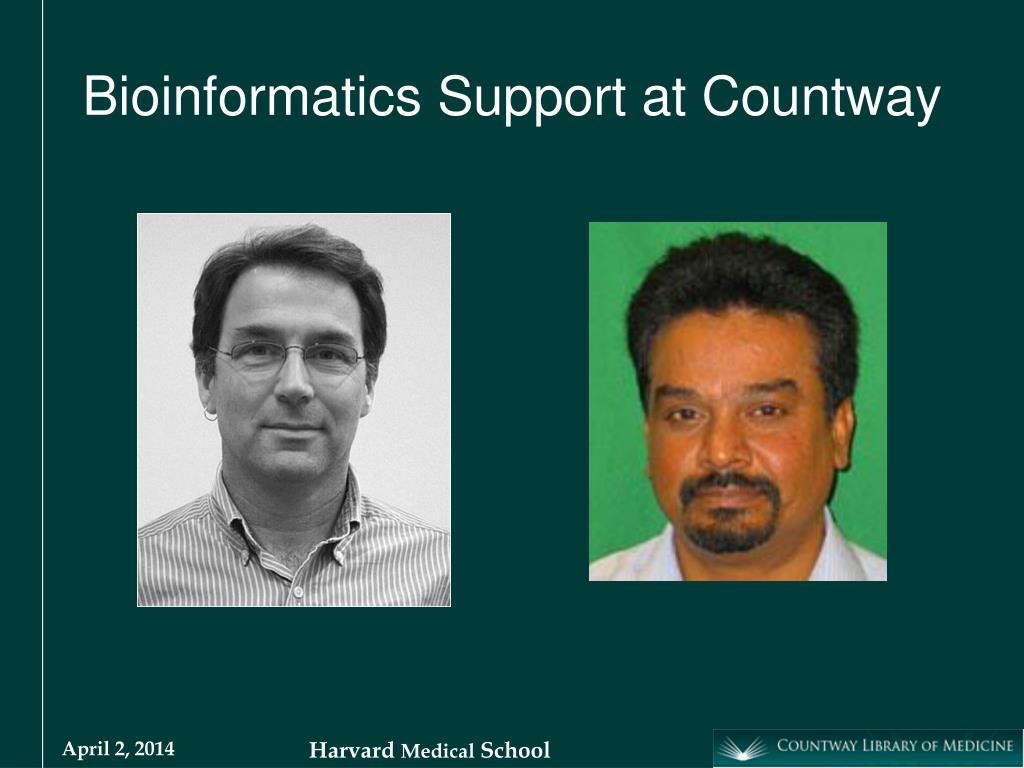 Bioinformatics Support at Countway