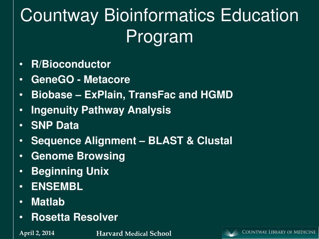 Countway Bioinformatics Education Program