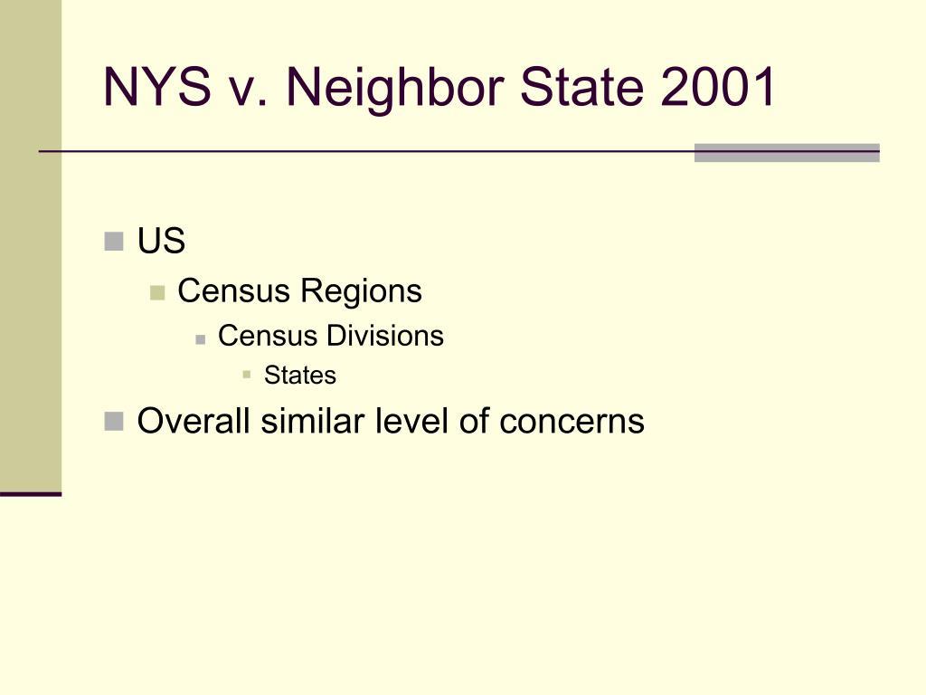 NYS v. Neighbor State 2001