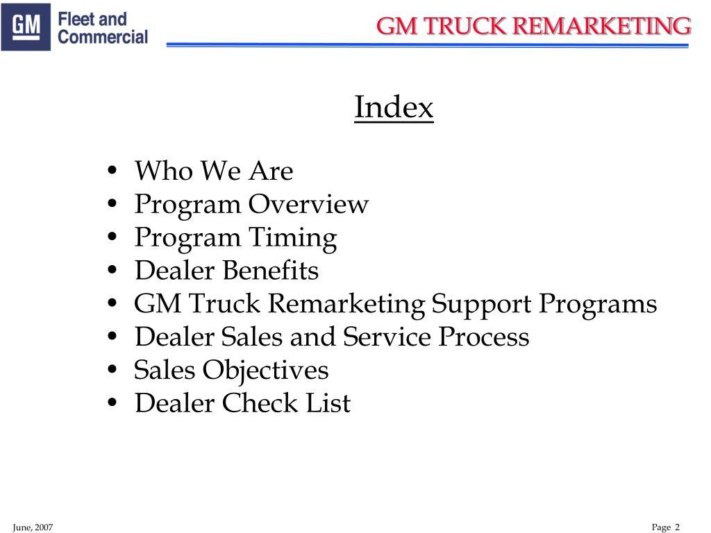 GM TRUCK REMARKETING