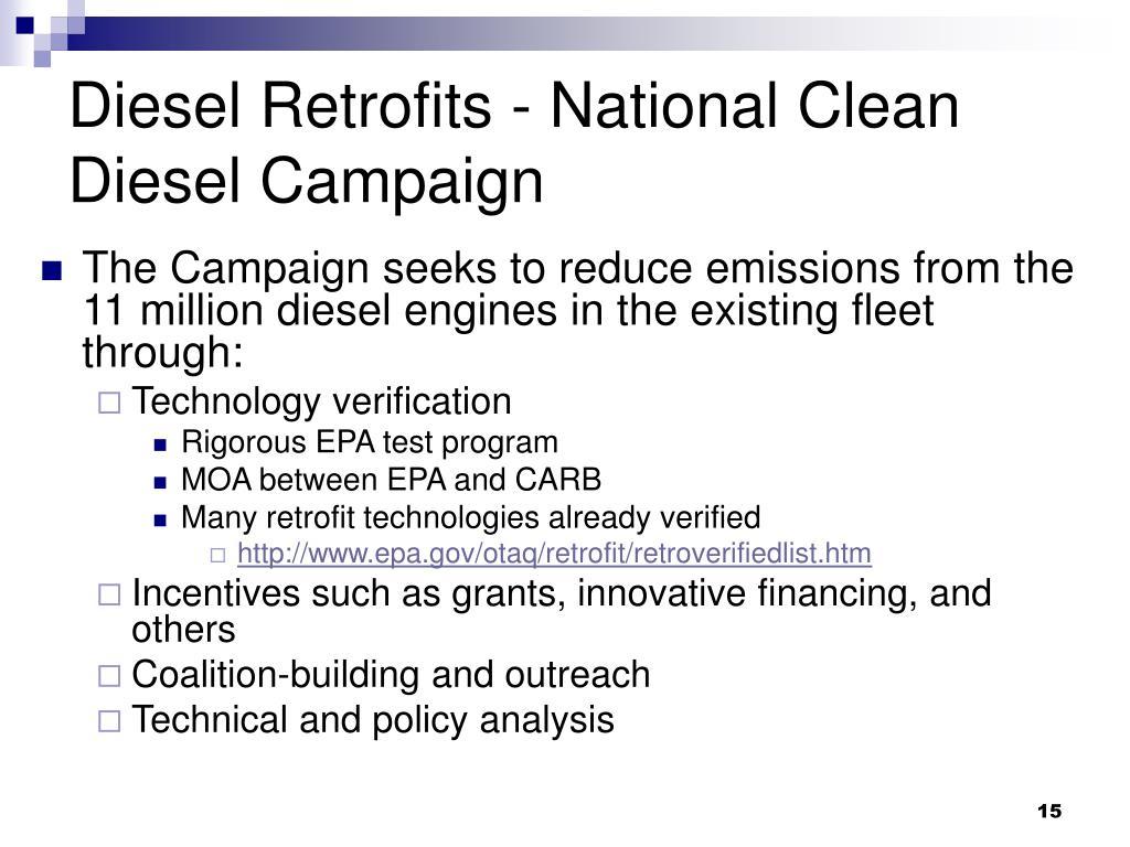 Diesel Retrofits - National Clean Diesel Campaign