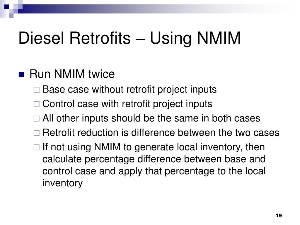 Diesel Retrofits – Using NMIM