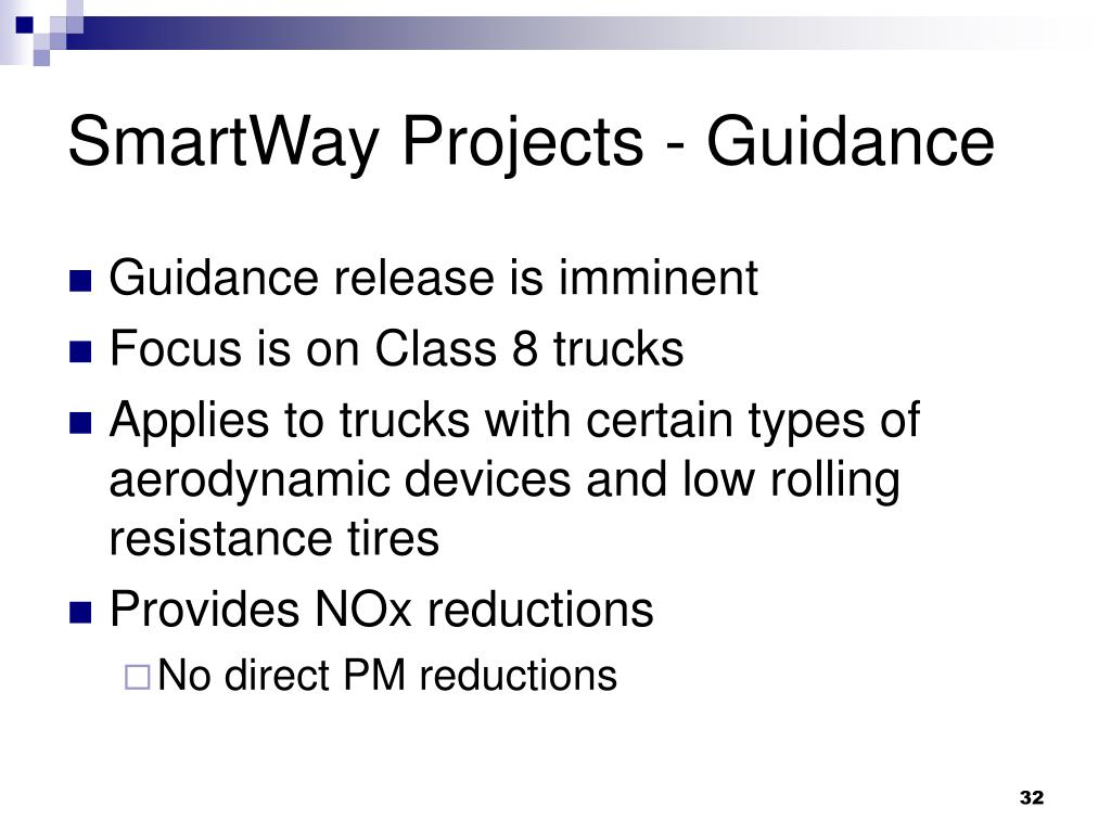 SmartWay Projects - Guidance