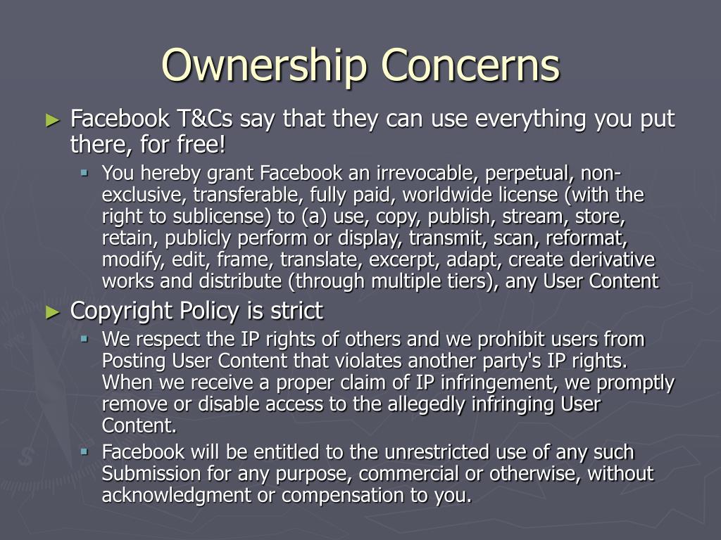 Ownership Concerns