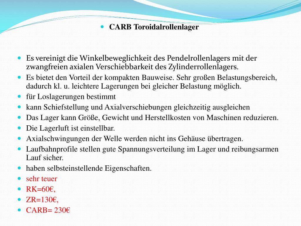 CARB Toroidalrollenlager