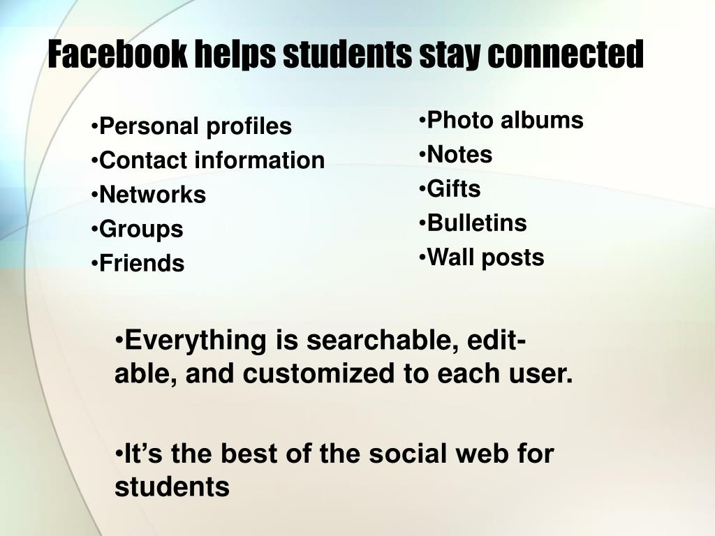 Facebook helps students stay connected