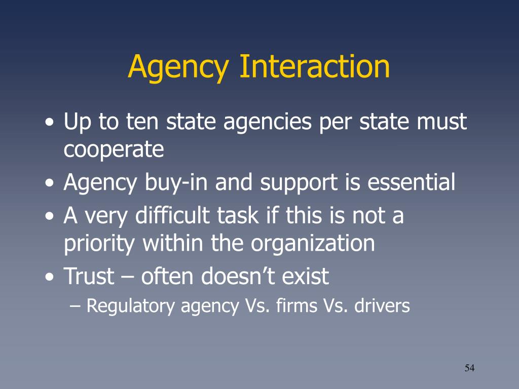Agency Interaction