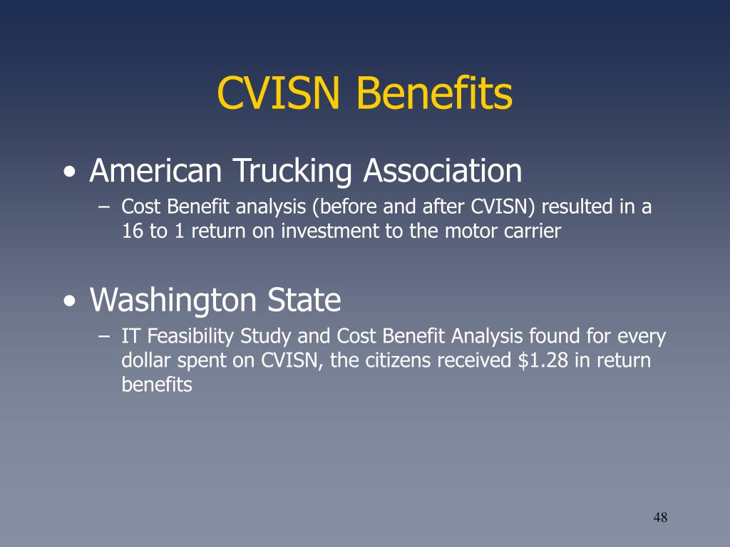CVISN Benefits