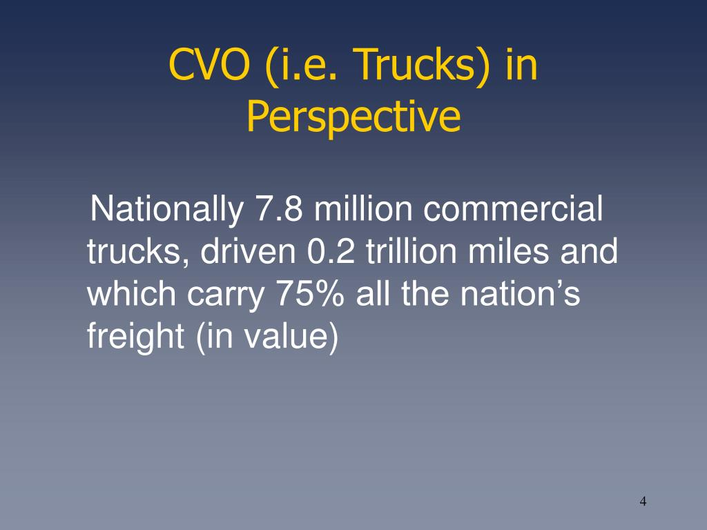 CVO (i.e. Trucks) in Perspective