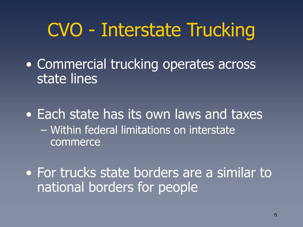 CVO - Interstate Trucking