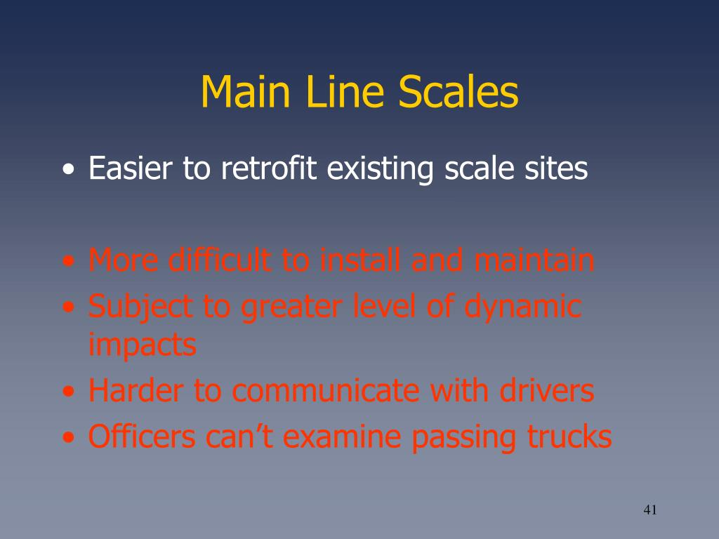 Main Line Scales