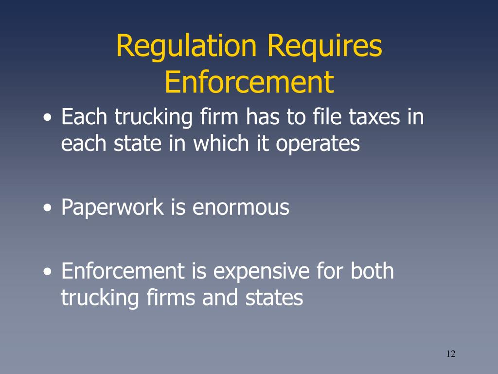 Regulation Requires Enforcement