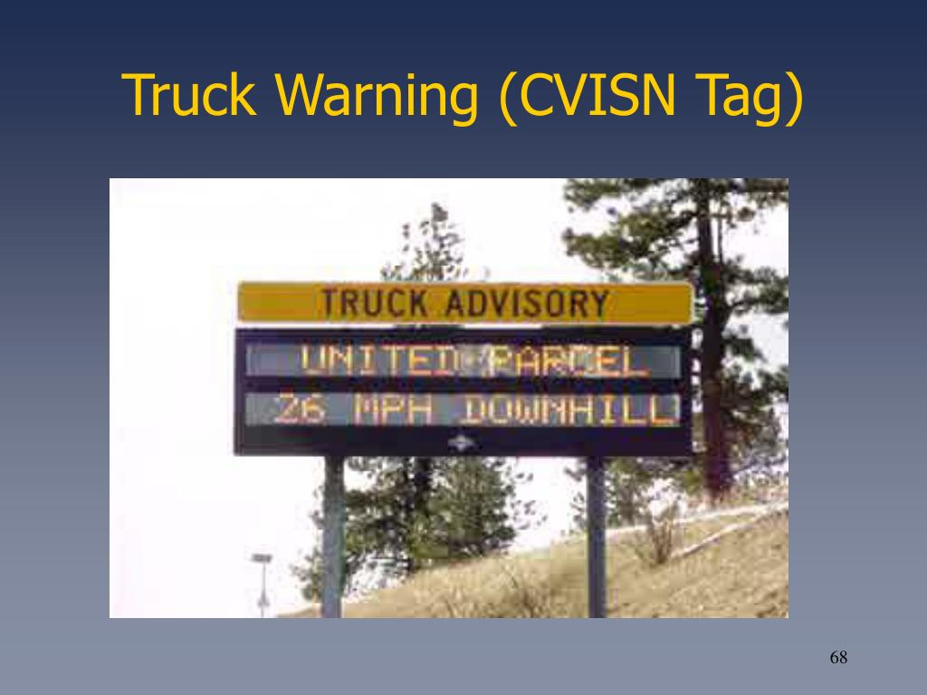 Truck Warning (CVISN Tag)