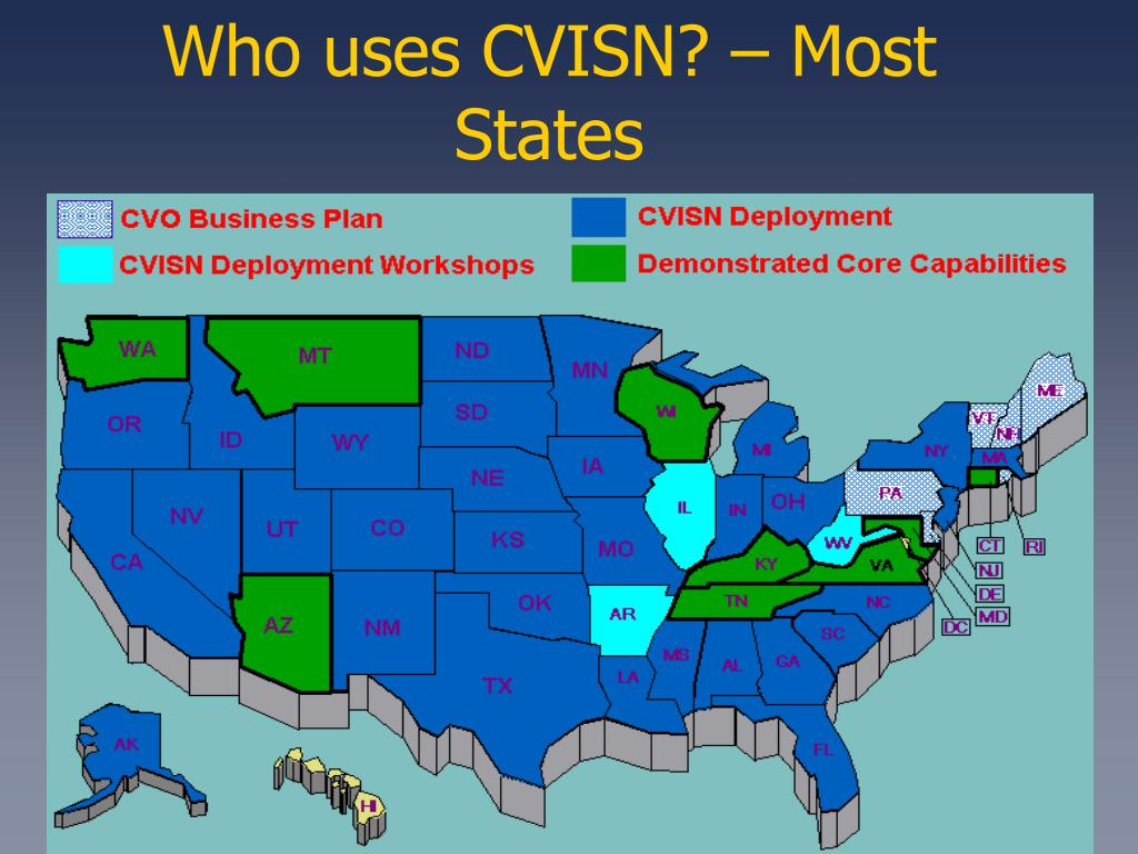 Who uses CVISN? – Most States