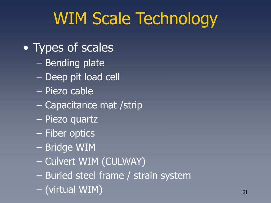 WIM Scale Technology