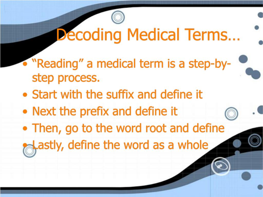 Decoding Medical Terms…