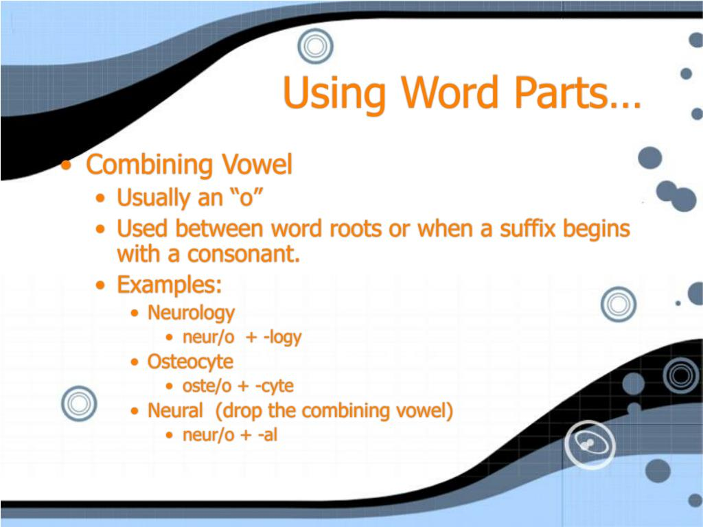Using Word Parts…