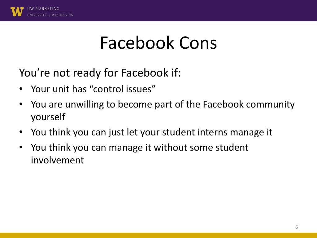 Facebook Cons