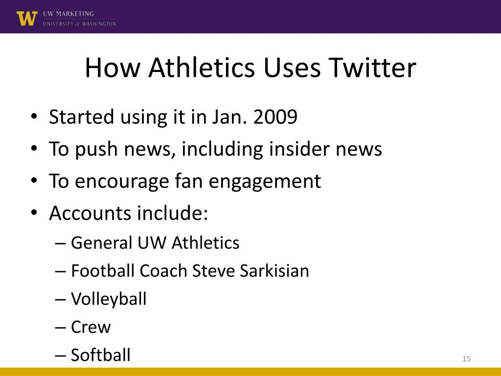 How Athletics Uses Twitter