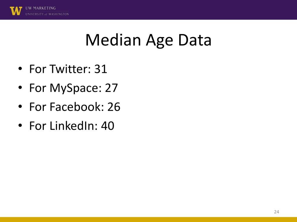 Median Age Data