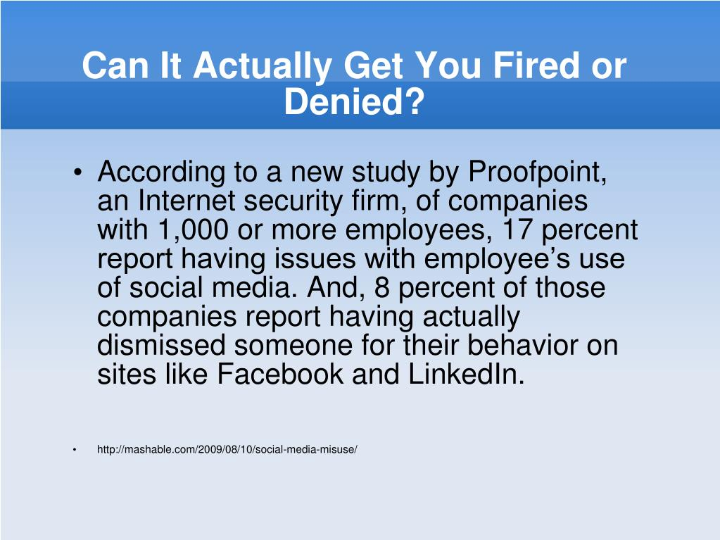 Can It Actually Get You Fired or Denied?