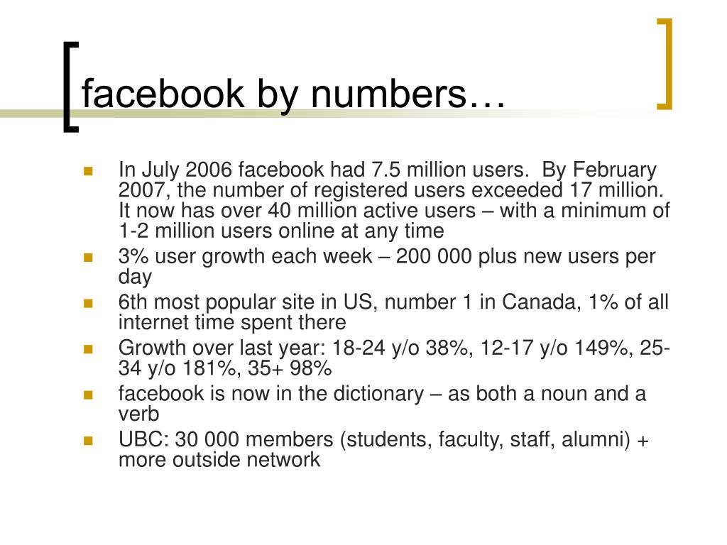 facebook by numbers…
