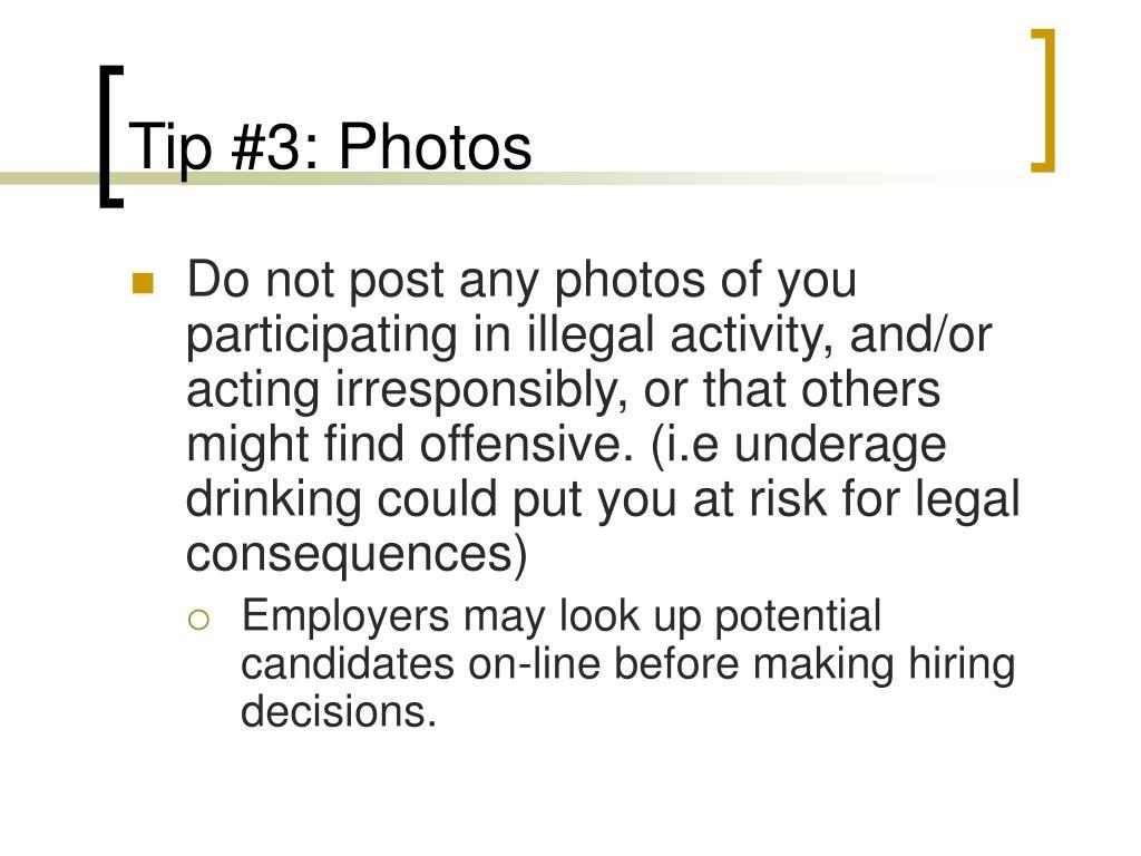 Tip #3: Photos