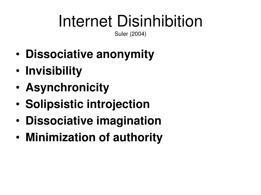 Internet Disinhibition