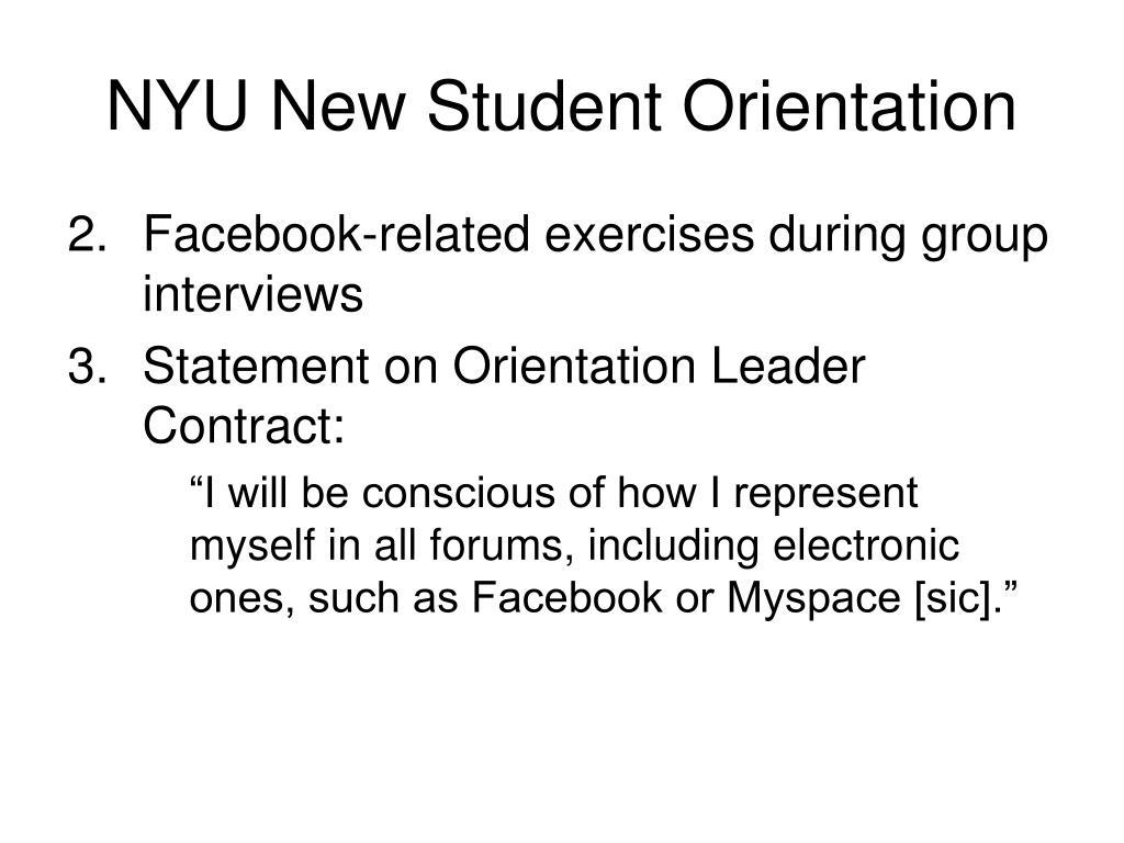 NYU New Student Orientation