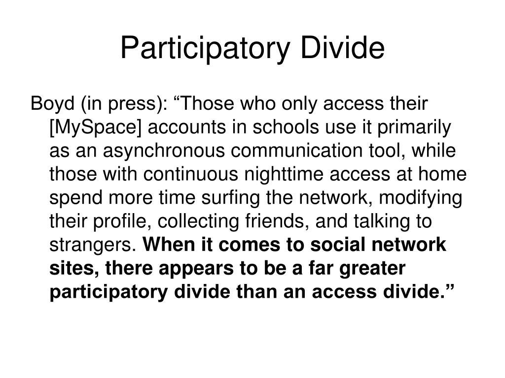 Participatory Divide