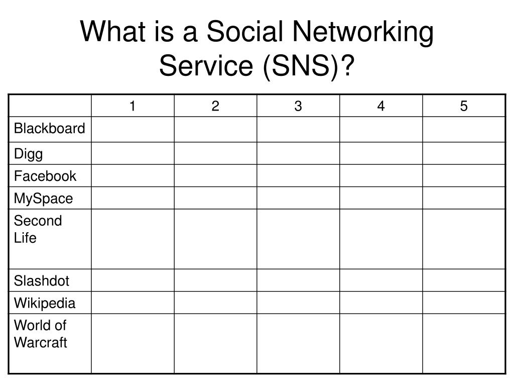 What is a Social Networking Service (SNS)?