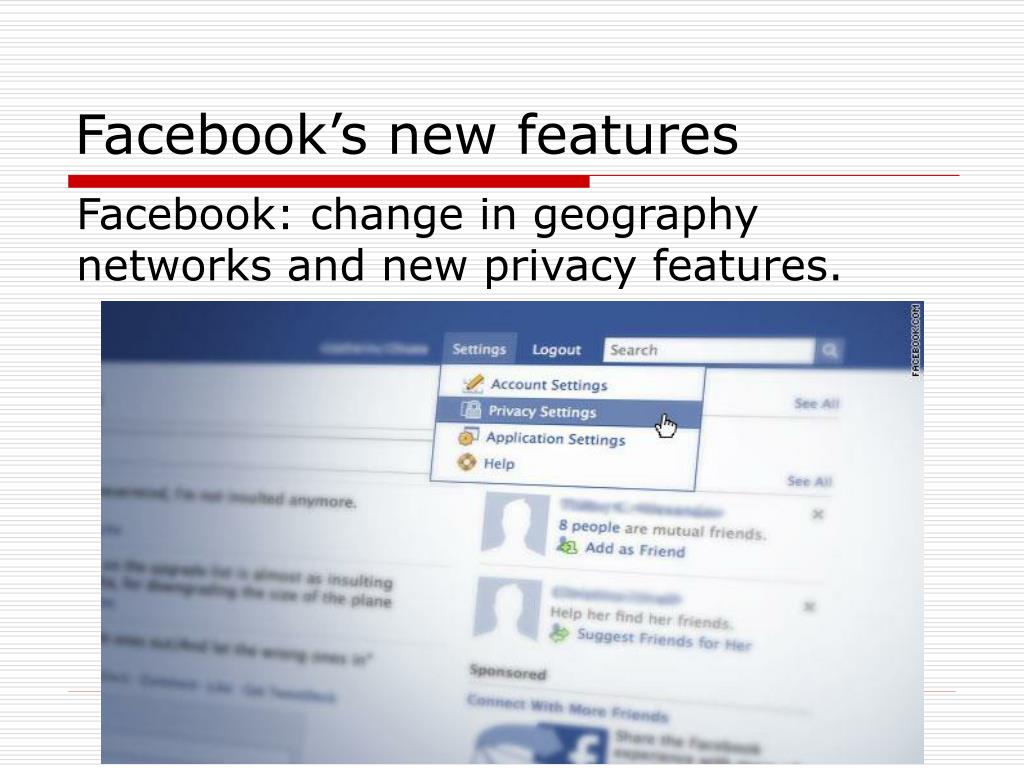 Facebook's new features