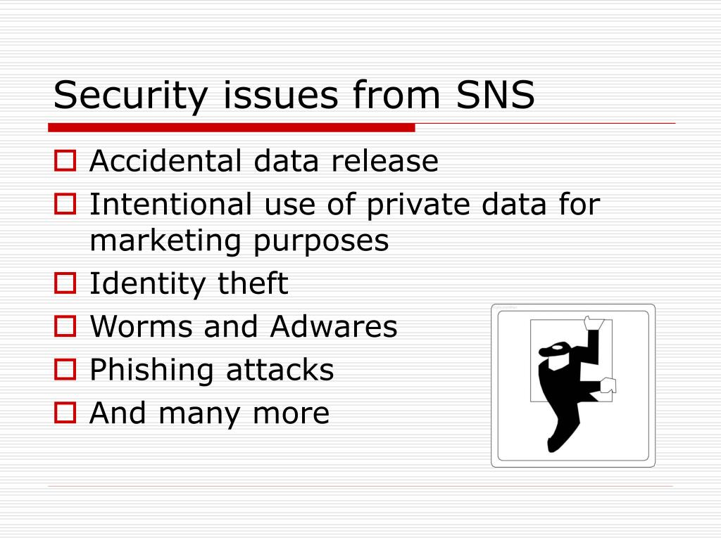 Security issues from SNS