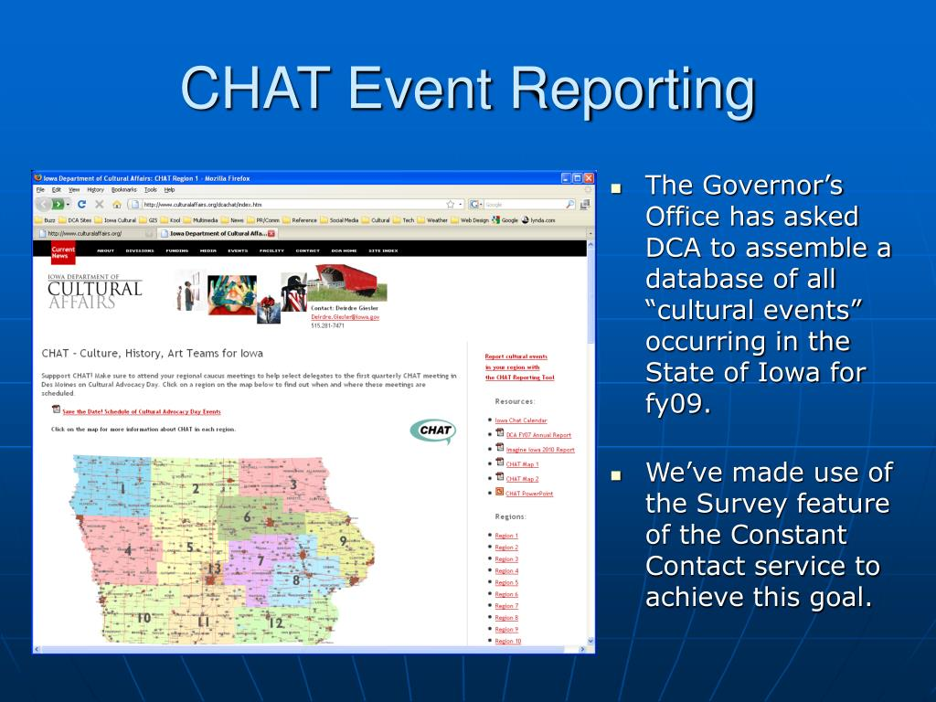 CHAT Event Reporting