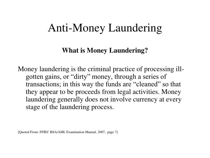 Anti money laundering1