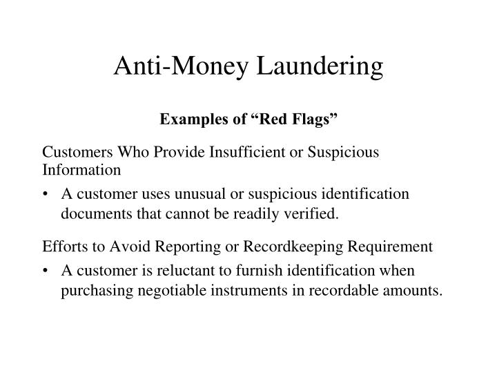 Anti-Money Laundering