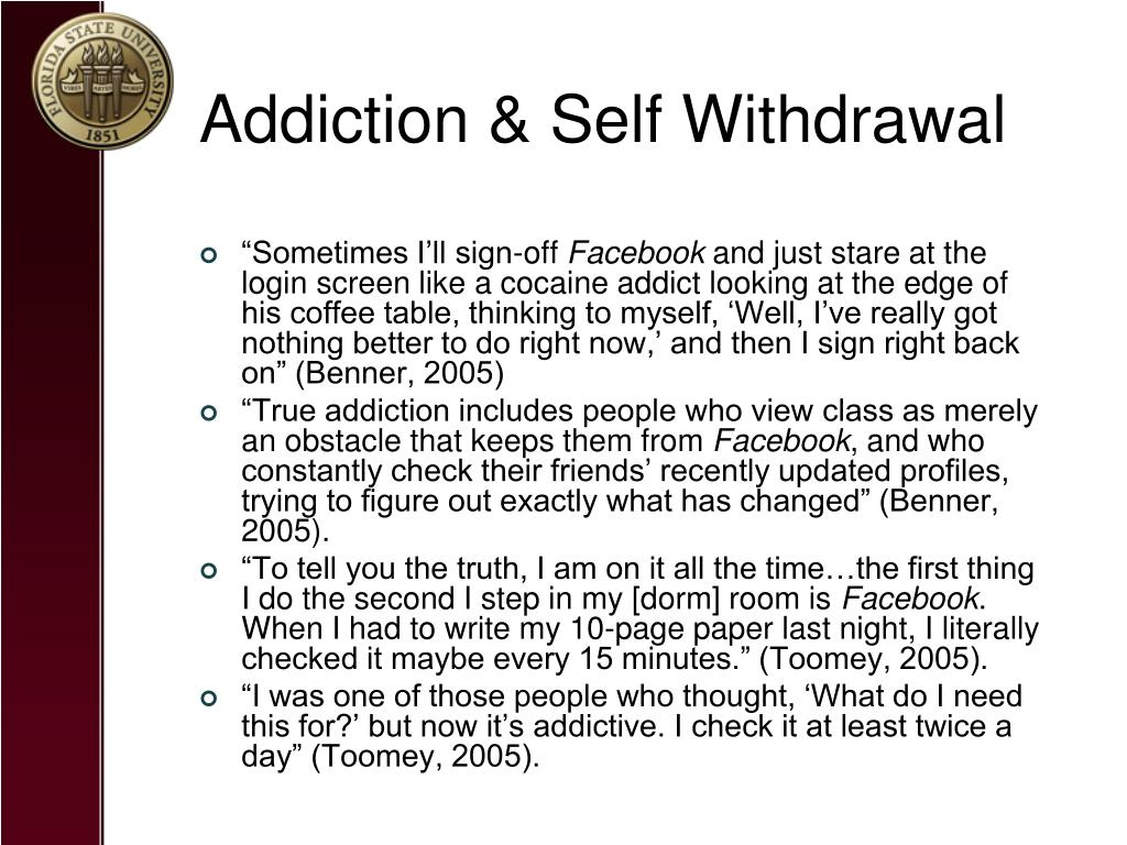 Addiction & Self Withdrawal
