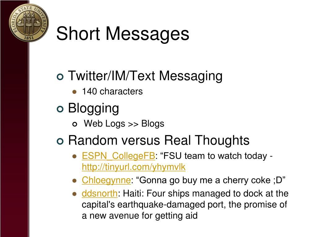 Short Messages