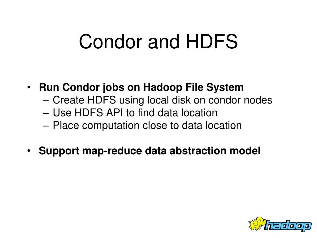 Condor and HDFS