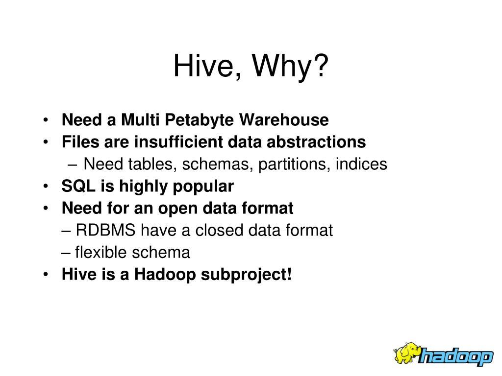Hive, Why?