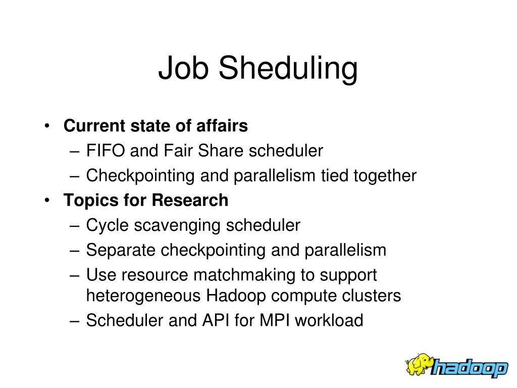Job Sheduling