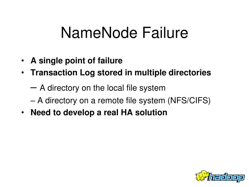 NameNode Failure
